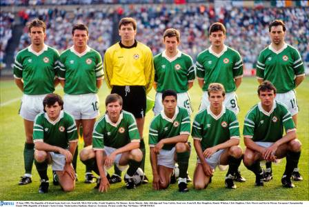 Chris lines up with Republic of Ireland at Euro '88