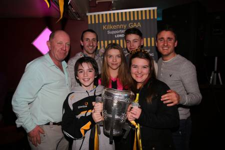 Eoin Larkinn and David Herity with the Mullins family from Danesfort