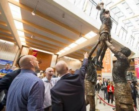 Rugby sculpture unveiled at Shannon Airport