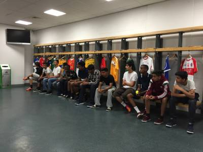 The boys in the Croke Park dressing room