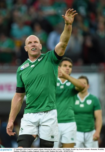 Ireland ready for tougher challenges 27 September 2015; Paul O'Connell, Ireland, following his side's victory. 2015 Rugby World Cup, Pool D, Ireland v Romania, Wembley Stadium, Wembley, London, England. Picture credit: Stephen McCarthy / SPORTSFILE