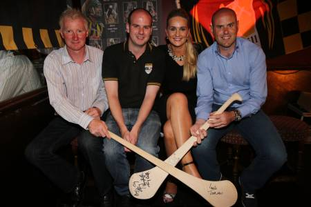 John Power, David Hennessy (The Irish World Sports Editor), Tracy Millea and Brian McEvoy