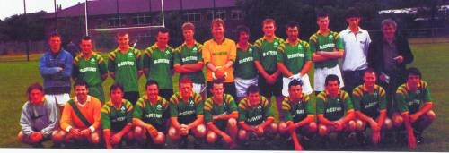 Martin Comerford, second from right, with the Shalloe Pearse football team of 1997