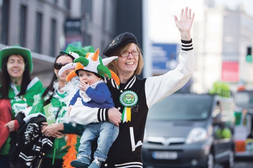 Photos from St. Patrick's Day across Britain