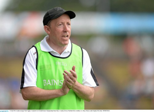 21 July 2013; London manager Paul Coggins. Connacht GAA Football Senior Championship Final, Mayo v London, Elverys MacHale Park, Castlebar, Co. Mayo. Picture credit: Stephen McCarthy / SPORTSFILE