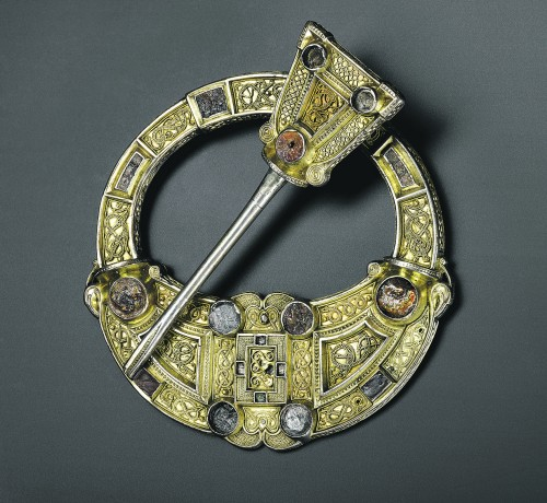 Celts: Art and Identity - Hunterston brooch Silver, gold and amber Hunterston, south-west Scotland, AD 700–800  © National Museums Scotland