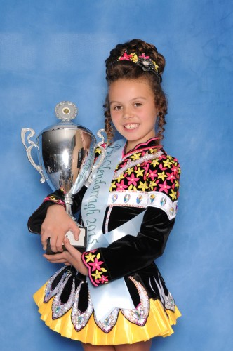 Feis Glendarragh, Nottingham Gracie-Lea Lynch (Inis Cara) won the U10 prelim championship.
