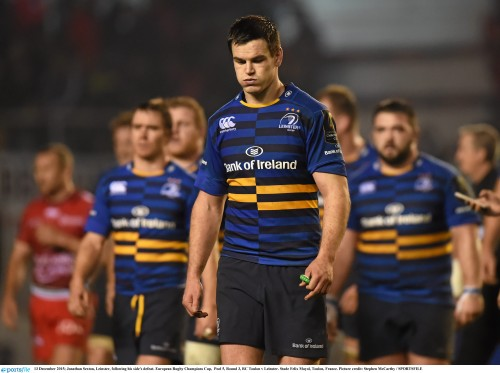Munster and Leinster European glories now a fading memory 13 December 2015; Jonathan Sexton, Leinster, following his side's defeat. European Rugby Champions Cup, Pool 5, Round 3, RC Toulon v Leinster. Stade Felix Mayol, Toulon, France. Picture credit: Stephen McCarthy / SPORTSFILE