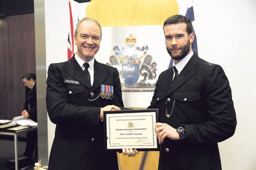 PC Tony Joyce -Bravery in Brent honoured