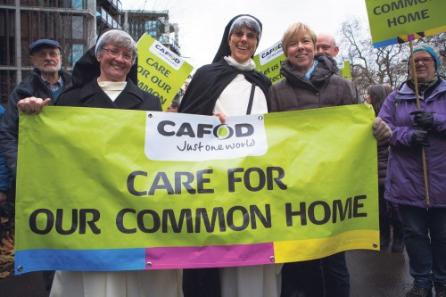 Sister-Christina-(left)-joined-tens-of-thousands-of-people-marching-through-London-for-action-on-climate-change-(Louise-Norton,-CAFOD) Climate change is an issue for everybody