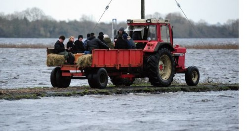 Tractors save the day for mourners