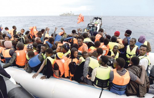 Three Irish naval vessels in the Mediterranean as part of Operation Pontus, including the LE SAMUEL BECKETT pictured last November, saved 8,631 lives and recovered 39 bodies of men, women and children. Some 900,000 people crossed the sea to enter Europe during 2015. Irish Department of Defence