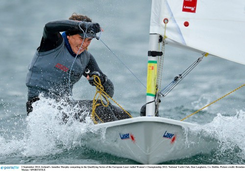 Irish stars to look out for in 2016 2 September 2013; Ireland's Annalise Murphy competing in the Qualifying Series of the European Laser radial Women's Championship 2013. National Yacht Club, Dun Laoghaire, Co. Dublin. Picture credit: Brendan Moran / SPORTSFILE
