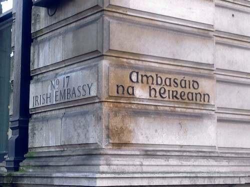 Irish Embassy here cost just over £4.5m last year