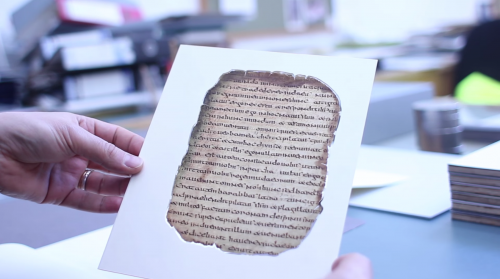 'The Garland of Howth' first complete ancient manuscript viewed by US Ambassador