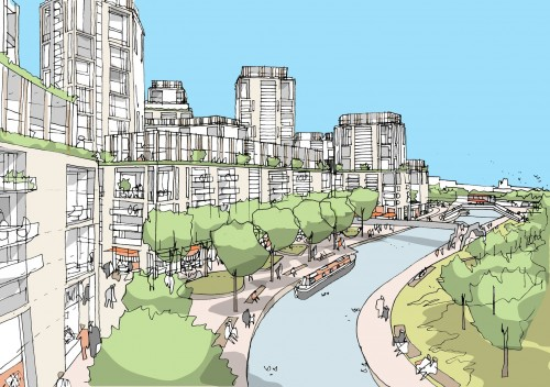 Pics: Old Oak Common as a 'thriving new district'