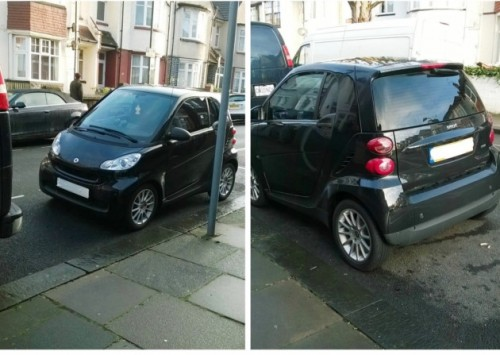 Harlesden chancer who covered his registration plates with tape