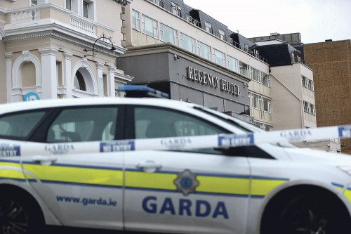 Army, police out in force for Dublin funeral