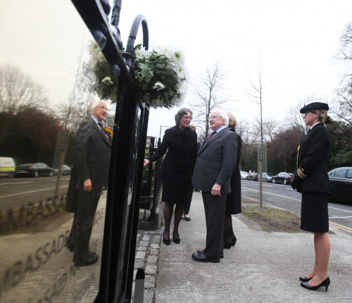 Irish President urges Ireland not to be frightened