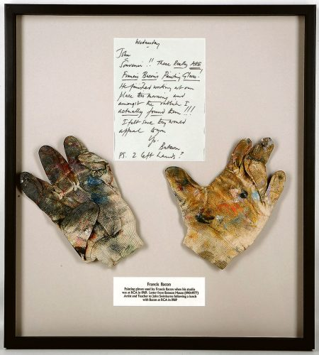 Painting gloves sold £7,000