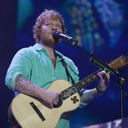 Ed Sheeran wedding ring photo