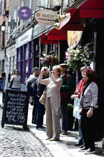 Irish visitors help business