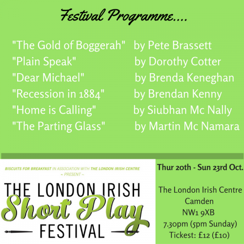 Irish writing talent showcased London