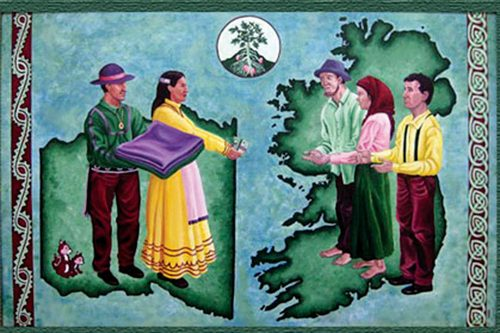 Choctaw Nation Irish language column