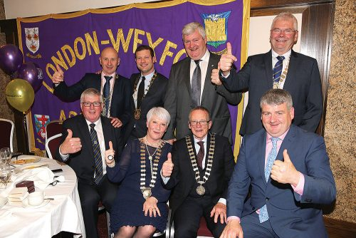 Chain gang Wexford civic dignitaries London