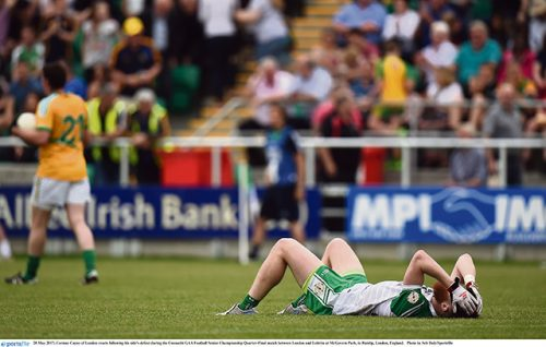 London GAA Deely gutted