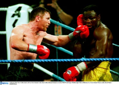 steve collins nigel benn boxing rematch