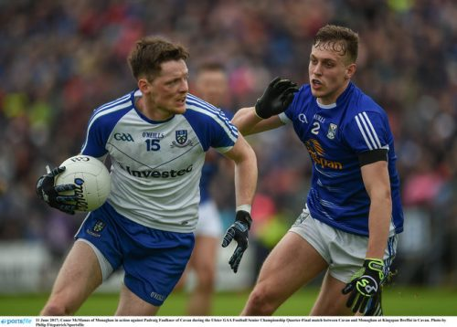Monaghan manager Malachy O'Rourke down ulster semi final cavan