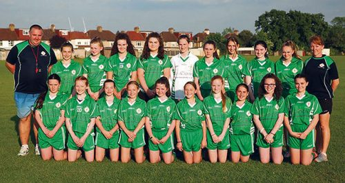 Good luck London girls Feile na nog