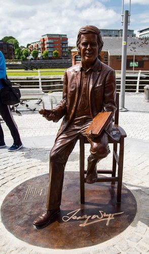 Bronze Terry Wogan sculpture unveiled home town