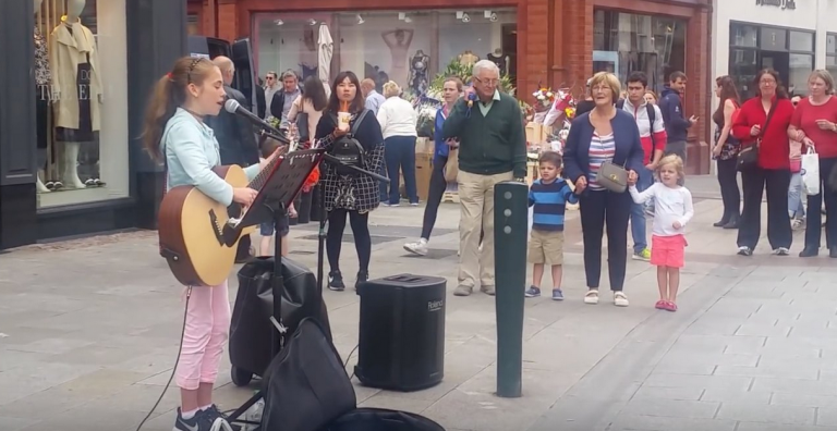 11yr old Grafton St busker goes viral