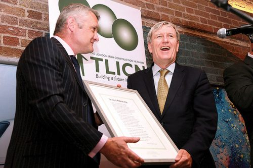 London Irish Construction Network Mr Mulhall Ambassador special reception