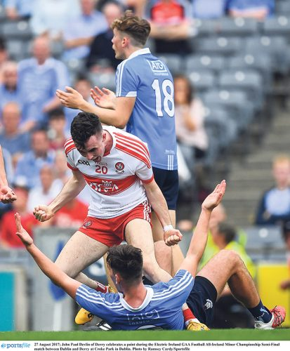 dublin derry minor championship semi-final strong finish