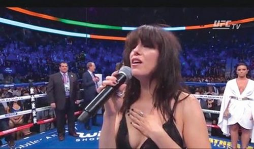 Imelda wins battle anthems Vegas mcgregor fight