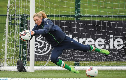 emma byrne republic ireland goalkeeper 21 years