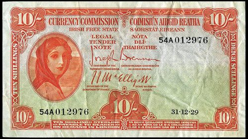 World's largest collection Irish ten bob notes auction