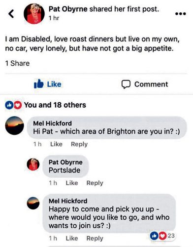 Womans roast dinner appeal goes viral
