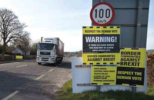 Open customs border impossible Brexit say Irish tax authorities