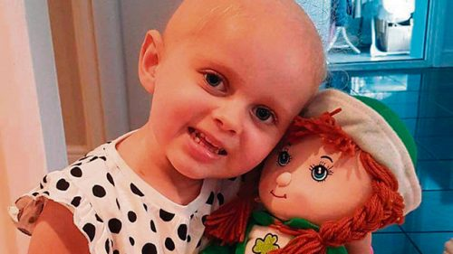 Fundraiser brave Siobhan Margaret Mather rare child cancer