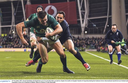Ireland's Jacob Stockdale shines