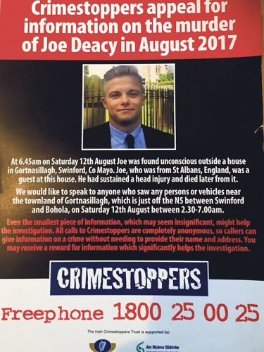 TV Appeal Joe Deacy murder info