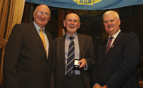 Iggy Donnelly receives All-Ireland winner's medal
