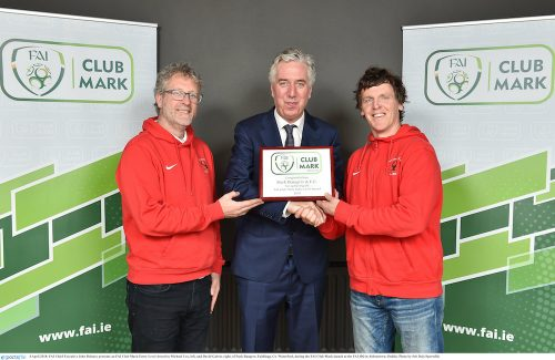 Waterfords Park Rangers AFC Wins FAI Award
