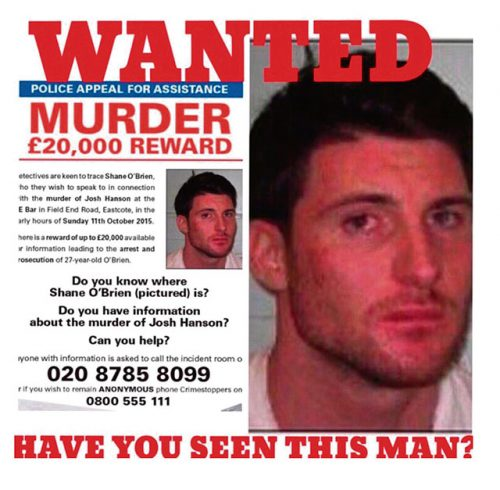 Ruislip stabbing suspect worldwide Most Wanted list