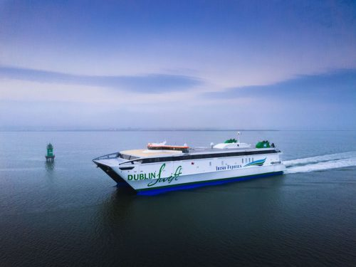 Irish Ferries New Dublin Swift catamaran Irish Sea