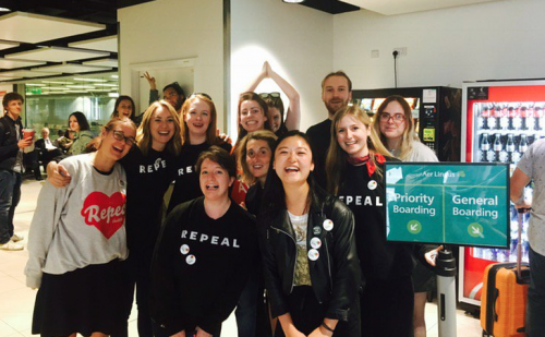 HomeToVote movement strong among UK Irish repealthe8th